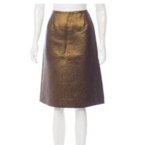 Louise Vuitton metallic skirt